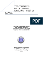 THE GILLETTE COMPANY'S ACQUISITION OF DURACELL INTERNATIONAL INC. - COST OF CAPITAL anis.docx