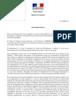 Communiqué de presse conjoint de Manuel VALLS et Bernard CAZENEUVE