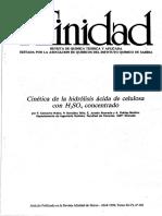 Cinetica de La Hidrolisis Acida de Celulosa