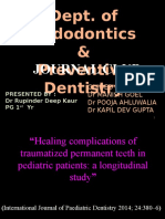 Healing complications of traumatized permanent teeth in pediatric patients a longitudinal study.pptx