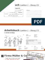Deutsch 1 - Lektion 1 (2016-01-28)