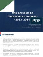 Presentación 9na Encuesta Innovación