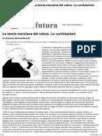 Ascanio Bernardeschi_ La Teoria Marxiana Del Valore. Le Confutazioni