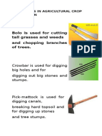 Farm Tools in Agricultural Crop Production