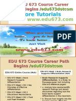 EDU 673 Course Career Path Begins Edu673dotcom