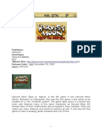 Harvest Moon Back to Nature Complete Guide Book