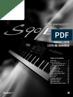 S90 ES Data List