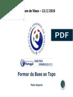 Formar de La Base a La Élite. Pedro Sequeira