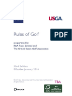 Rules of Golf A6 2016