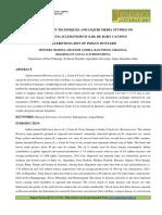 INOCULATION TECHNIQUES AND LIQUID MEDIA STUDIES ON SCLEROTINIA SCLEROTIORUM (LIB) DE BARY CAUSING SCLEROTINIA ROT OF INDIAN MUSTARD