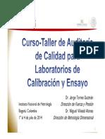 Curso Auditorias 17025 Colombia 2014 Mva