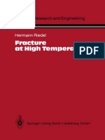 Dr. Hermann Riedel Auth. Fracture at High Temperatures 1987