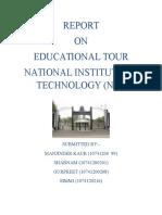 Biotech Report of Tour