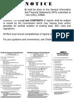 NOTICE Checklist
