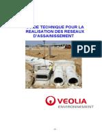 Guide Technique Pour La Realisation Des Reseaux Dassainissement Version 2012 Veolia