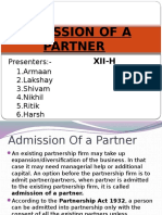 Admission of a Partner