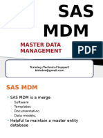 SAS MDM -Master Data Management