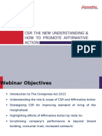 Fiinovation Webinar on CSR the New Understanding and How to Promote Affirmative Action