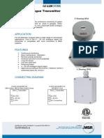 MSR MA-2-1120-F-M Ammonia Gas Sensor Transmitter