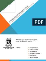 A Experiência de Hawthorne - Universidade Federal da Bahia