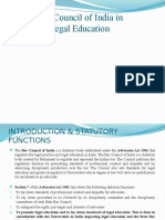 Role of Bar Council of India in Promoting legal education- PPT