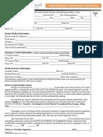 medical consent form -emergency form