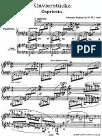 Brahms - 8 Klavierstücke, Op.76