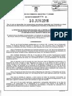 Decreto 1078 - jun 30 de 2016 -Cronograma Arancelario con Corea