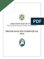 PROGRAMACION PARROQUIAL 2016