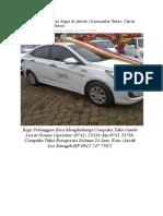 Daftar Nomor Taksi Argo Di Jambi