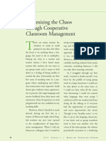 Minimizing the Chaos Through Cooperative Classroom Management