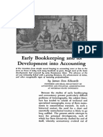 Early Bookeeping & Its Development