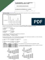 Examen de Matemáticas I REGULARIZACION
