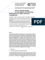 Uncertainties in climate change projections and regional downscaling 2010