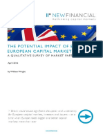 The Potential Impact of Brexit on European Capital Markets New Financial April 2016