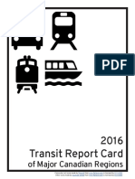 2016 Transit Report Card of Major Canadian Regions