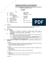 Syllabus de Base de Datos-2015-2