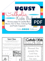 August 2016 Catholic Kids Bulletin