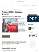 Android SQLite Database Tutorial