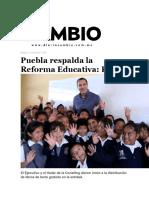 12-07-2016 Diario Cambio - Puebla Respalda La Reforma Educativa; RMV