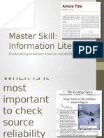 IAI214 Master Skill Evaluating Internet Source Reliability U10