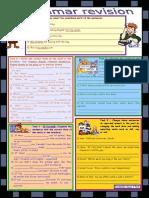 8767 Grammar Revision 4 5 Tasks for Intermediate Upperintermediate Level 30 Minutetest With Key Bw Version