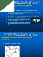 Criterios Sobre La Capacida de Trabajo y Calculo de Elementos de Maquinas