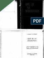 Que Es La Dialectica - Lefebvre y Guterman