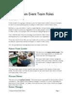 6b Kaizen Event Team Roles