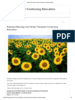 Delaware Marriage and Family Therapists Continuing Education