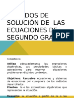 METODOSECUACION DE SEGUNDO GRADO2.ppt.pps