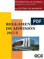 Reglamento Admisión 2017-i