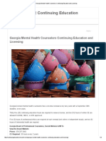 Georgia Mental Health Counselors Continuing Education and Licensing
