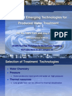 Novel and Emerging Technology for Prod. Water Treatment